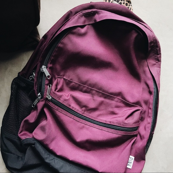 9be62f126423 RARE PINK Victoria's Secret Leopard Print Backpack